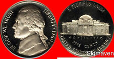 1989 S Jefferson Nickel Deep Cameo Gem Proof  No Reserve