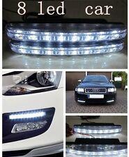 Lampe 2x8 LED Feux Avant Phare Diurne Eclairage Voiture AUTO Lumiere Blanc DRL