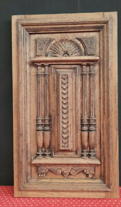 LARGE ANTIQUE FRENCH CARVED OAK PANEL - C1900