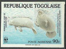 Togo Lamantin African Manatee Seekuh Lamantino Non Dentele Imperf ** 1984 Wwf