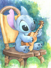 Lilo and Stitch Ukulele Solo Michelle St. Laurent Disney NEW Canvas LE 95 Signed