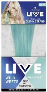 """Schwarzkopf Live WILD WEFTS Reusable Clip-in-Strand 18""""/45cm - Aquamarine"""