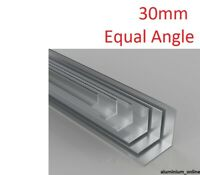 ALUMINIUM EQUAL ANGLE 30 X 30 X 3mm, 1 thickness, lengths up to 2.5m