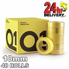 Q1 Premium Masking Tape 18mm x50m High Performance rubber-base 110�C Temperature