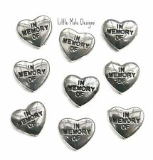 'In Memory Of' Heart Floating Charm for Living Memory Locket Floating Charms