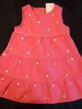 NWT GYMBOREE ~ DADDY'S NIGHT OWL pink corduroy jumper dress flowers ~ 18 24 mos.