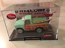CARS 2 Disney STORE Pixar JOHN LASSETIRE 1:43 ACRYLIC PLASTIC CASE CHASE Surf