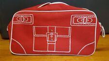 """Clinique Red Makeup Clutch/Pouch/Case/Bag. Purse Image on Front. 11""""x6""""x3"""""""