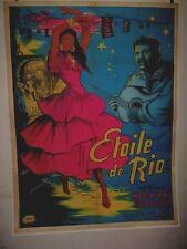 Original French STAR OF RIO STERN VON RIO Linen Backed MARIA FRAU Joelle Marquet