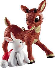 Carlton American Greetings Ornament 2012 Rudolph with Bunny Rabbit - #Cxor075B