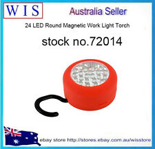 24 LED Round Magnetic Work Light Torch With Integral Hook & Magnet -72014