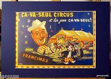 Ancienne Publicité Pression derrière Tapis 80er Ca-Va-Seul Circus 36x26 cm 877