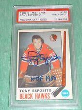 """1969-70 O-Pee-Chee #138 TONY ESPOSITO PSA/DNA Autograph Rookie RC """" HOF 1988 """""""