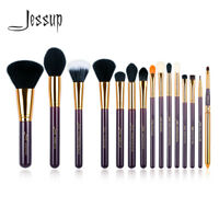 Jessup 15Pcs Makeup Brushes Set Powder Foundation Blending Eyeliner Brush Tools
