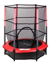"""FoxHunter Junior Trampoline With Enclosure Safety Net Kids Child Red 4.5FT 55"""""""