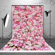 5x7FT Vinyl Background Photography Rose Wedding Love Flowers Studio Backdrop