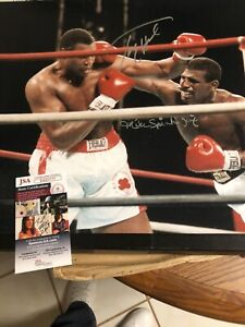 Autographed Larry Holmes and Michael Spinks 16x20 photo JSA certified signed