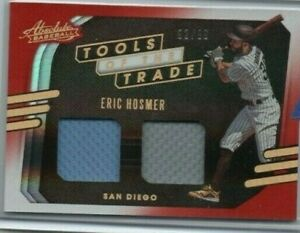 2021 Absolute San Diego Padres Eric Hosmer Tools of the Trade 2 Swatches Red /99