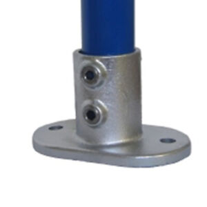 132/2 Floor Base Plate Flange Tube / Key Clamp To Suit 33.7mm Tube