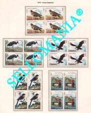1973 FAUNA ANIMALS   2134 / 38 ** MNH B4  EAGLE DUCK STORK AGUILA PATO  TC21735