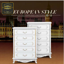 Brand New French Provincial Tall boy 5 Drawers Chest Storage Cabinet Dresser