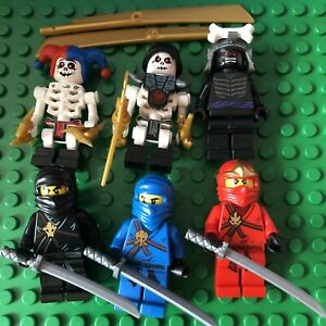 Lego Ninjago Lot 6 Minifigures Jay Kai Cole Lord Garmadon Skeleton Ninja Minifig