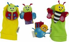 Tomy LAMAZE GARDENBUG WRIST RATTLE & FOOTFINDER SET Fun Soft Baby Rattle BN