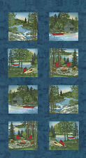 "MODA Quilt Panel ~ RIVER JOURNEY ~ by Holly Taylor (6680 19) Blue 24"" x 45"""