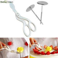 3Pcs Piping Flower Scissors+Nail Icing Bake Cake Decorating Cupcake Pastry Tools