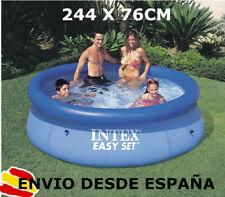 INTEX Piscina hinchable 244cm x 76cm Familiar desmontable