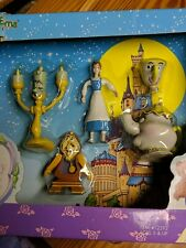 ☆Nib Collectible Disney's Beauty and The Beast Bend-Ems Figure Set 5pc set