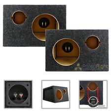 """6.5"""" Midrange and Tweeter Car Speaker Box Universal Enclosures Sealed 2 Pack"""