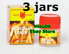 3 x EAGLE BRAND Muscular Balm Medicated External Cooling Pain Ache Relief