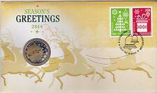 **2014 Australian Season's Greetings $1 coin PNC**