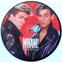 "EX! George Michael Wham Bad Boys 7"" Vinyl Pic Picture Disc"