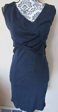 LTR Brands navy blue sleeveless pullover v-neck sheath dress, Size S