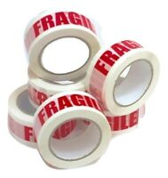 6x STRONG XL FRAGILE TAPES PACKAGING/PACKING/PARCEL/CARTON/BOX ROLLS - 48mmx91M