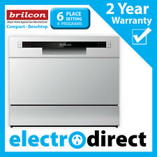 Brilcon Benchtop Dishwasher 6 Place Setting Compact Silver Finish 6 Wash Program