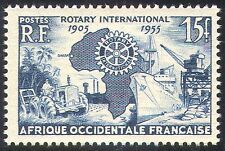 French West Africa 1955 Rotary/People/Tractor/Palm Trees/Ship/Crane 1v (n41747)