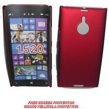 Pellicola+custodia BACK COVER RIGIDA ROSSO per Nokia Lumia 1520