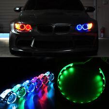 2Pcs Green LED Lights Devil Eyes Demon For Auto Headlight Projector Lens Rings