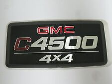 "NEW OEM GMC TOPKICK C4500 4x4 EMBLEM BADGE DECAL 7"" x 3-1/2"""