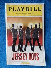 Jersey Boys - August Wilson Theatre Playbill w/Autograph - September 2009