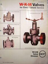 W-K-M Valve WKM Catalog ASBESTOS ACF Industries 1970