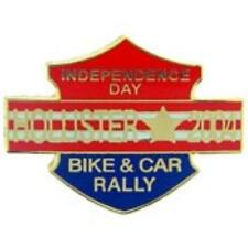 HOLLISTER INDEPENDENCE DAY BIKE & CAR RALLY 2004 LAPEL PIN