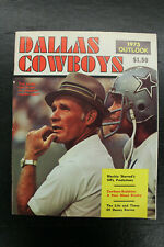 1973 Outlook Dallas Cowboys Magazine Tom Landry Cover Staubach Cowboys