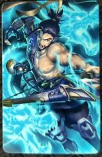 HANZO Overwatch Sticker A Card ID Bank Game Party Loot Kids Decal PC Skate