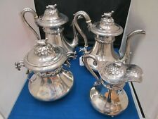 Vintage R.W. Wilson Coin Silver 4 Piece Tea Set
