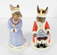 Royal Doulton Bunnykins Queen Sophie DB46, King John DB45 Royal Family Figurines