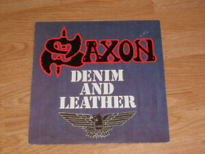 SAXON Denim And Leather LP VINYL 1981 CARRERE 2934138 METAL